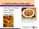5 health benefits of whole grains