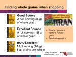 finding whole grains when shopping