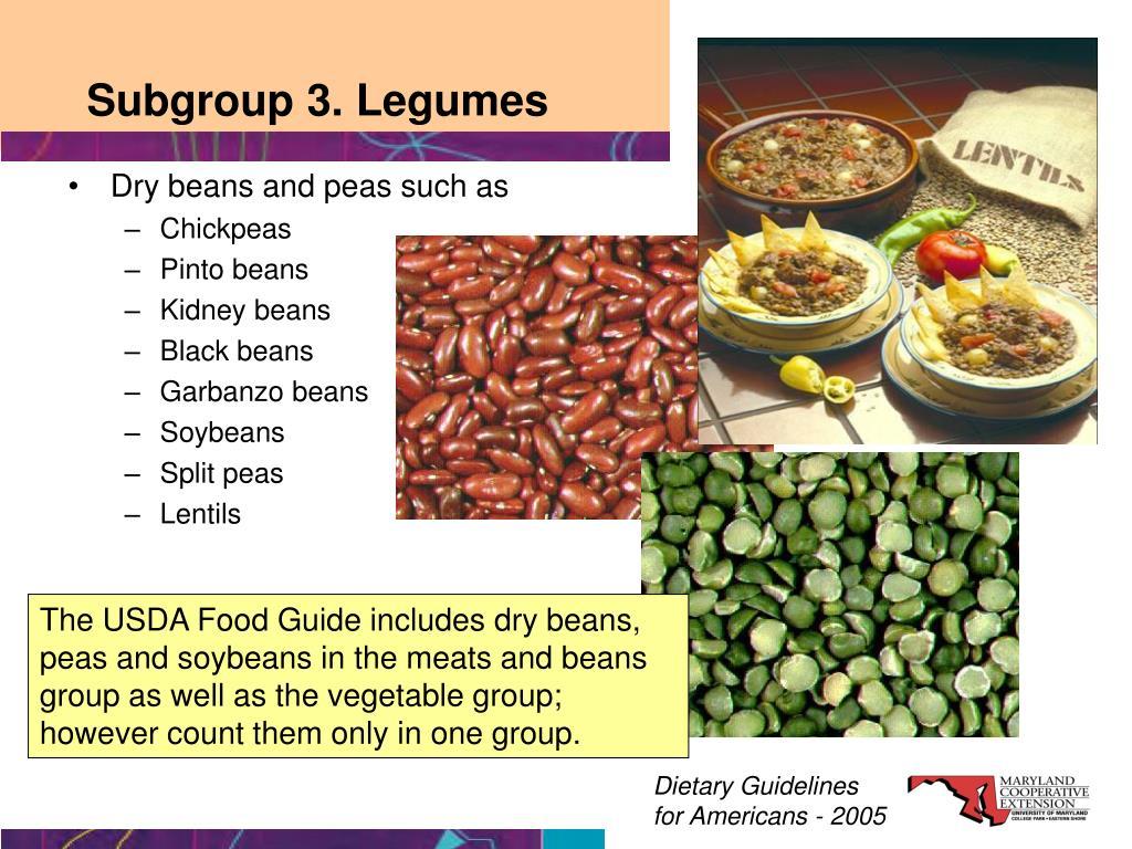 Subgroup 3. Legumes