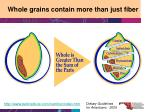 whole grains contain more than just fiber