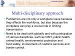multi disciplinary approach