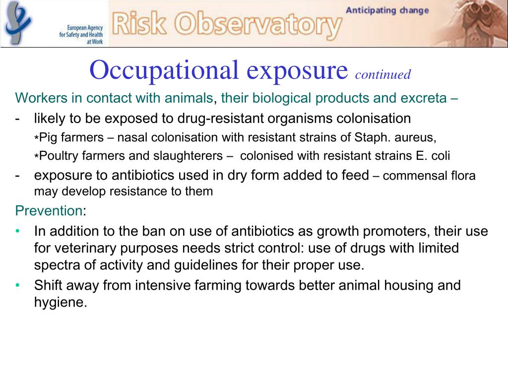 Occupational exposure