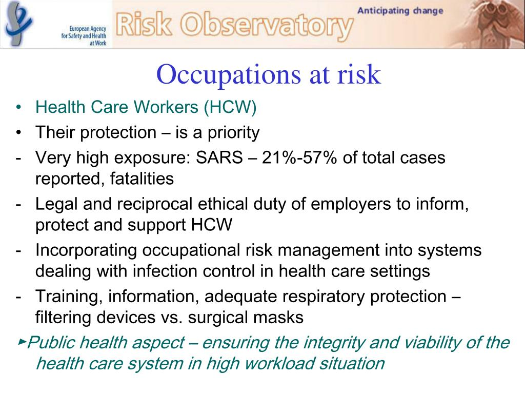 Occupations at risk