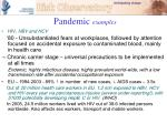 pandemic examples