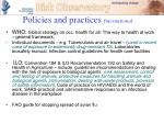 policies and practices international