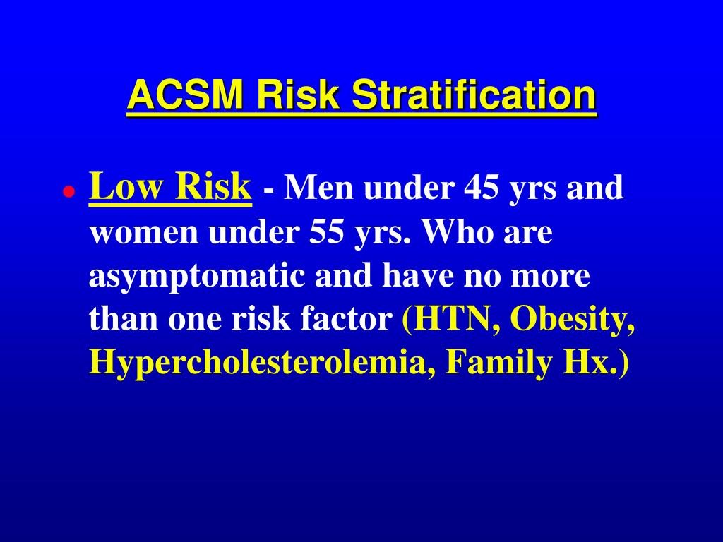 ACSM Risk Stratification