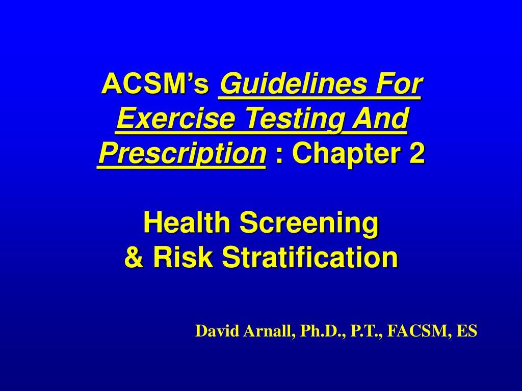 ACSM's