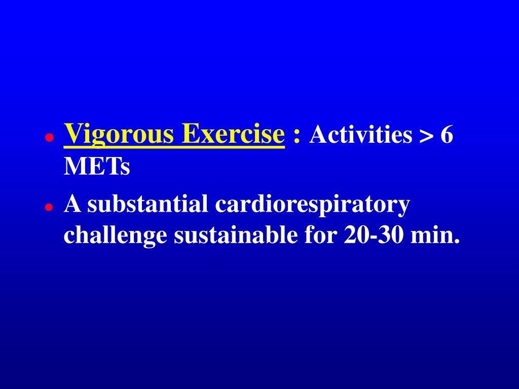 Vigorous Exercise