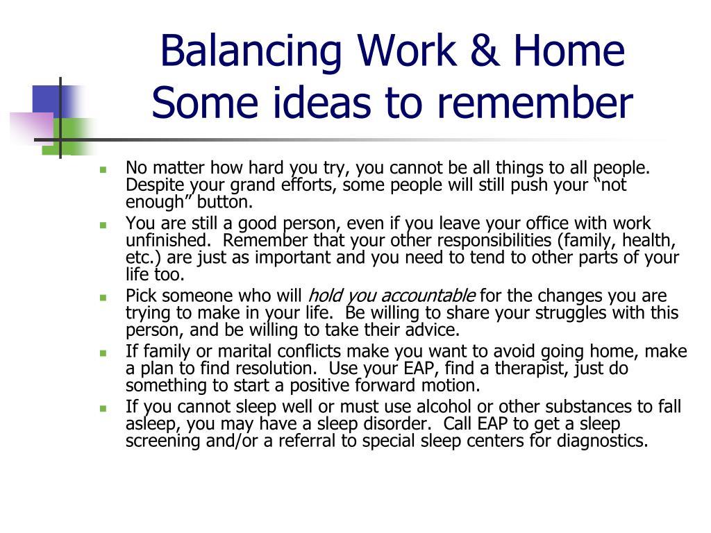 Balancing Work & Home