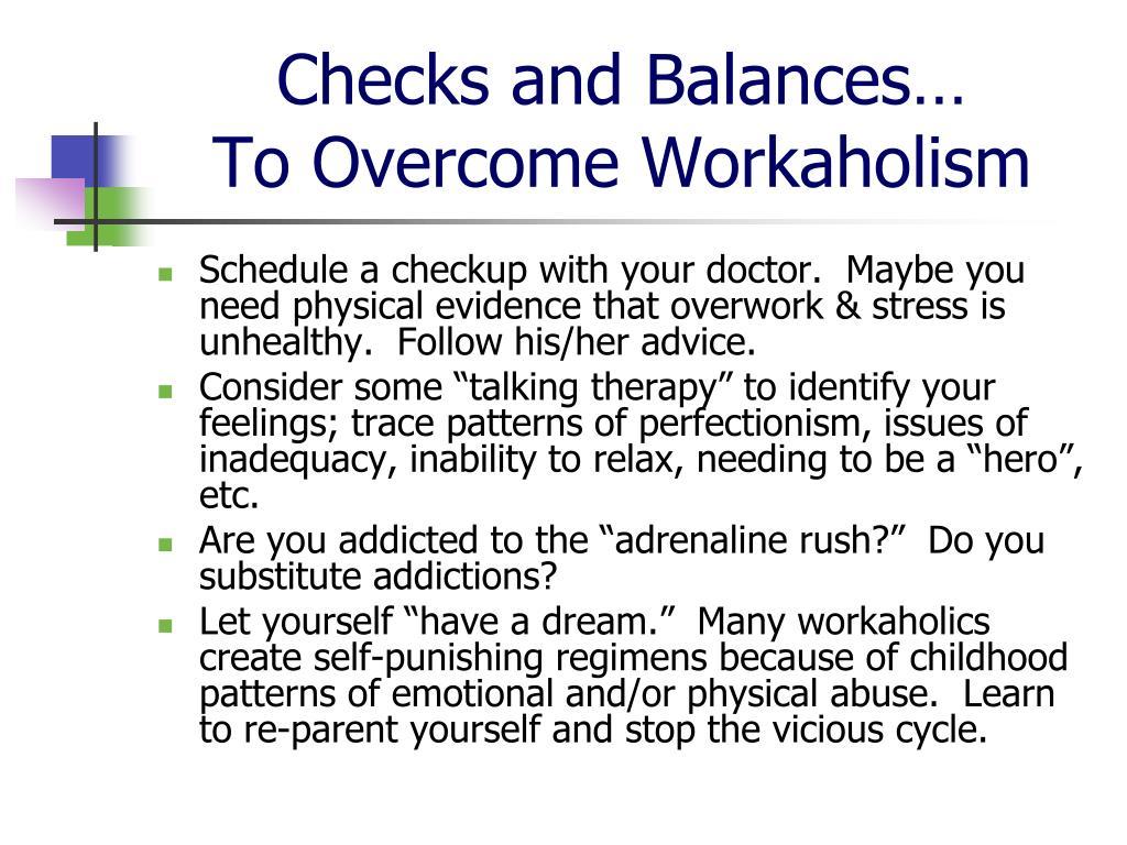 Checks and Balances…