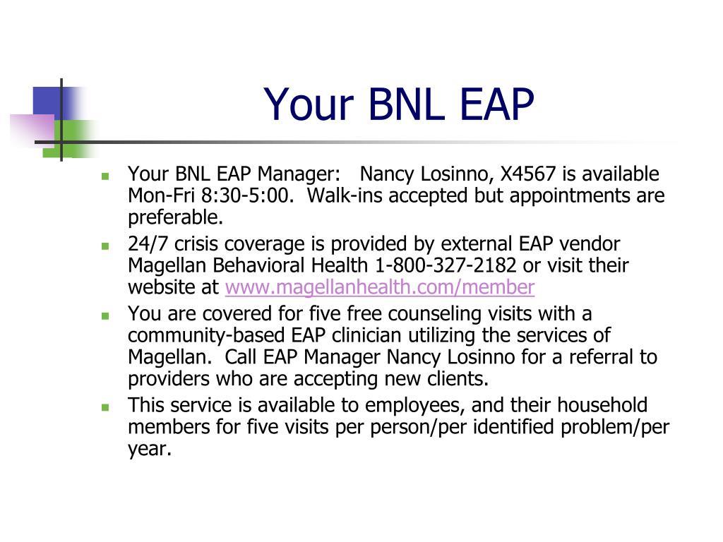 Your BNL EAP