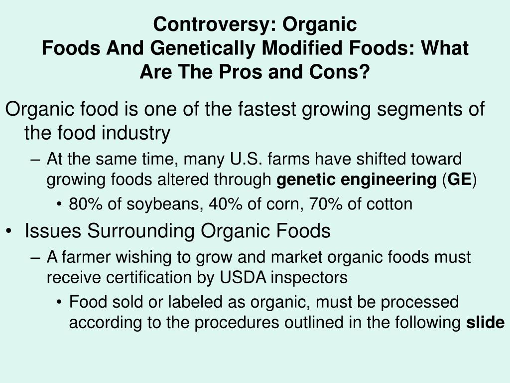 Controversy: Organic