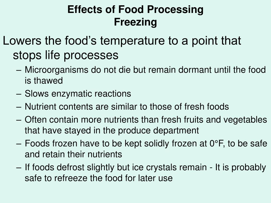 Effects of Food Processing