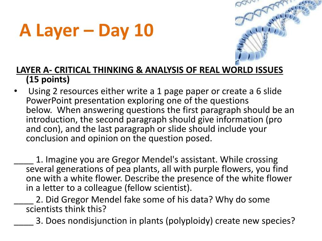 A Layer – Day 10