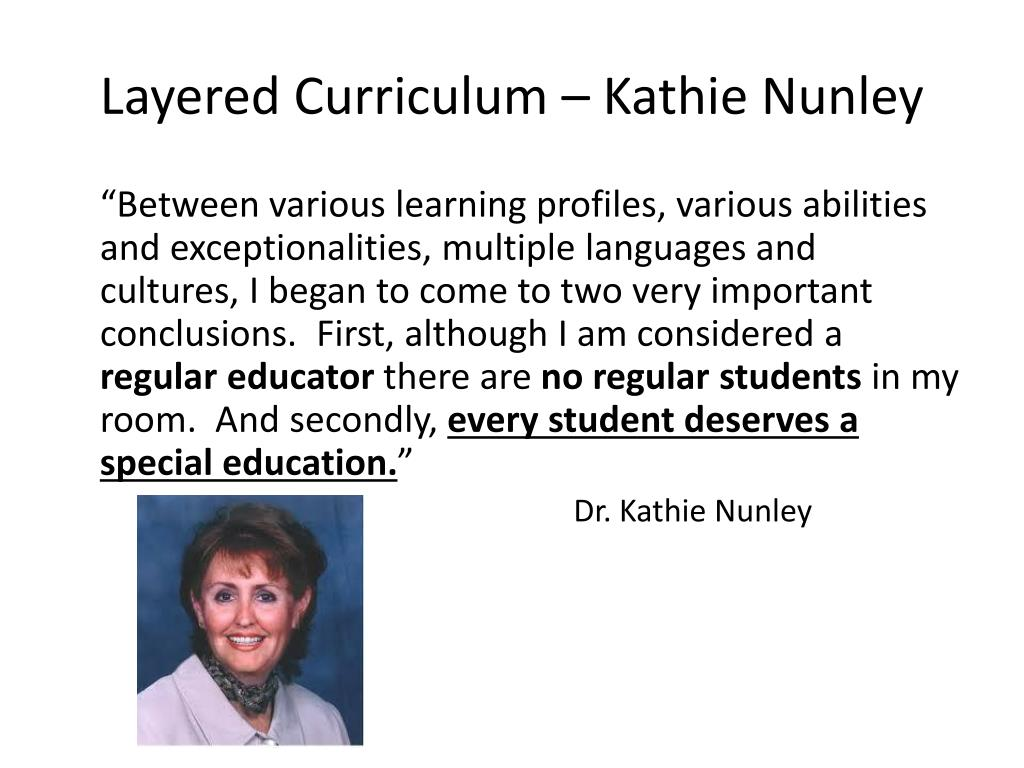 Layered Curriculum – Kathie