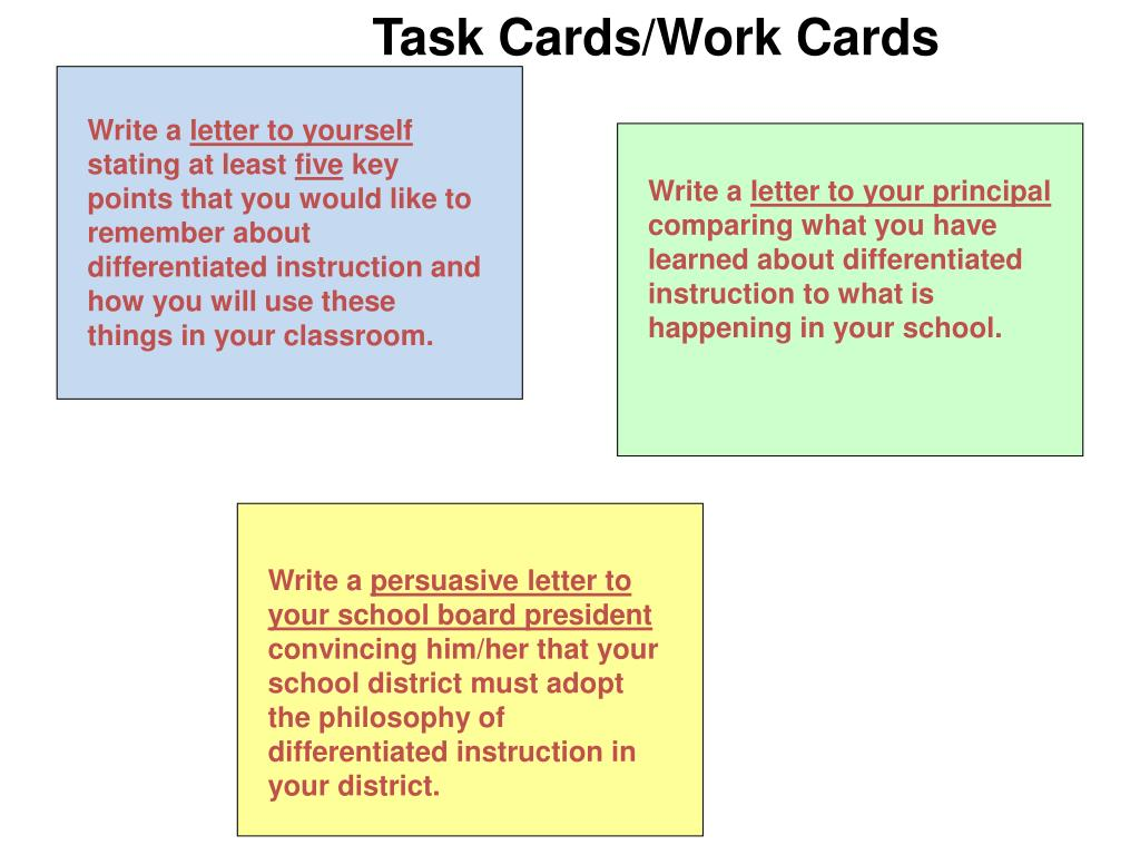 Task Cards/Work Cards
