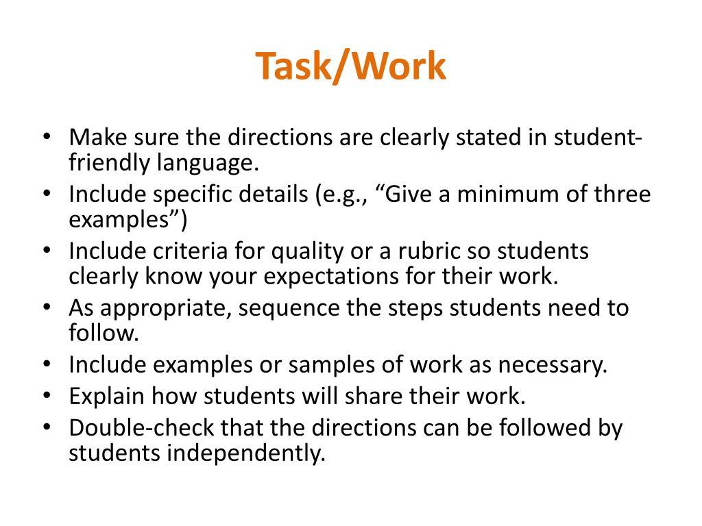 Task/Work