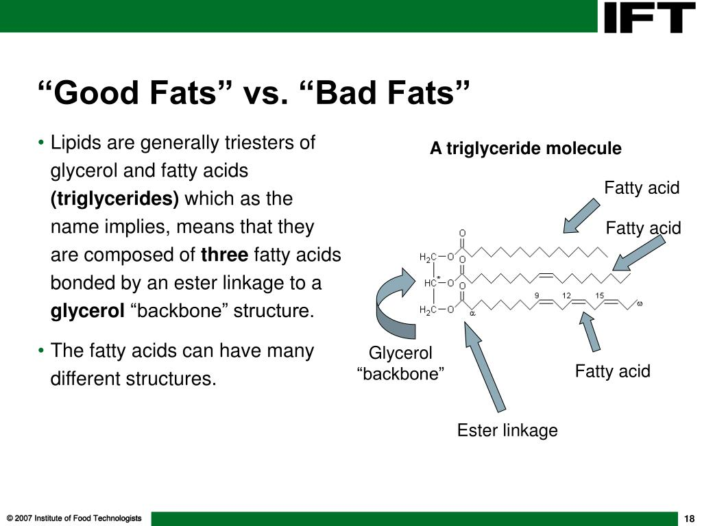 Lipids are generally triesters of glycerol and fatty acids