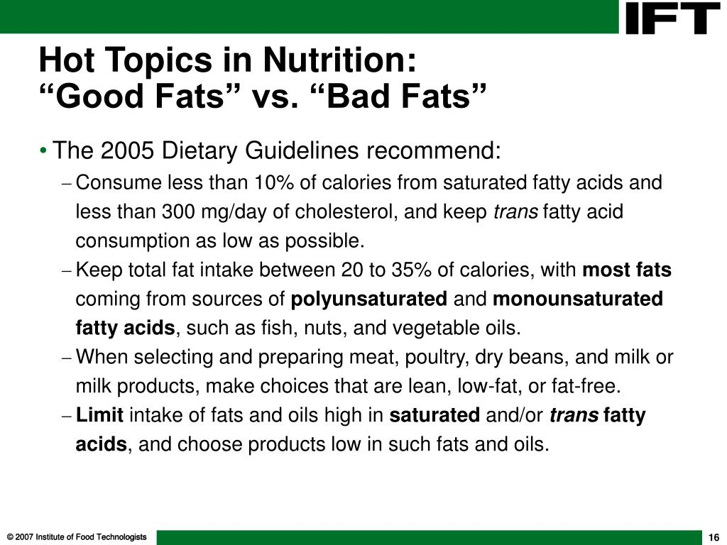 Hot Topics in Nutrition: