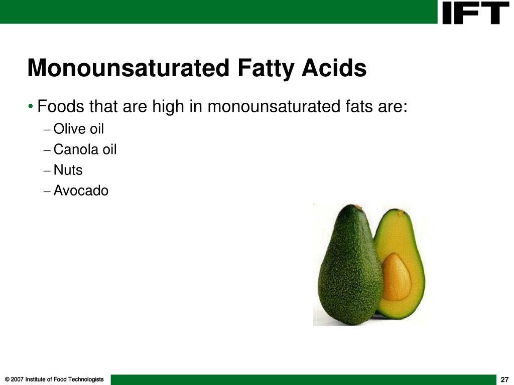 Monounsaturated Fatty Acids