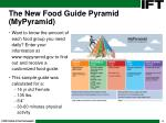 the new food guide pyramid mypyramid8