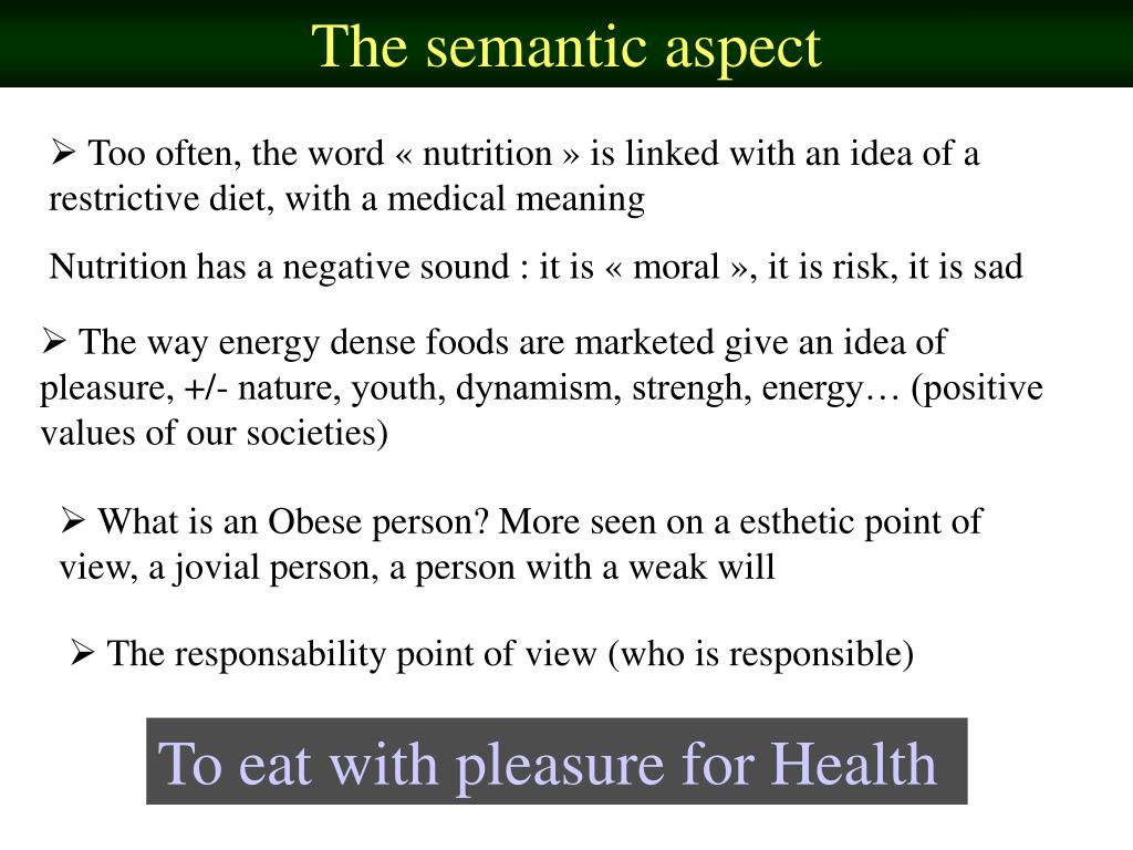 The semantic aspect