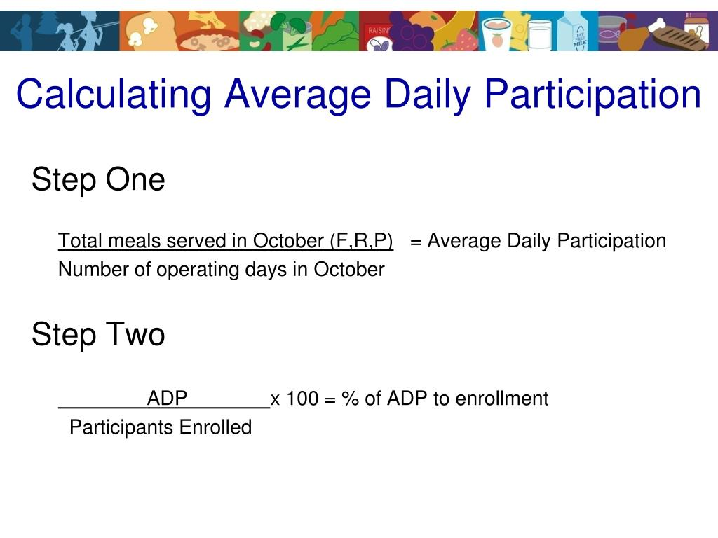 Calculating Average Daily Participation