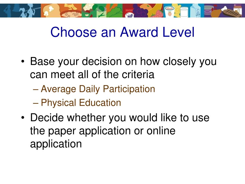Choose an Award Level