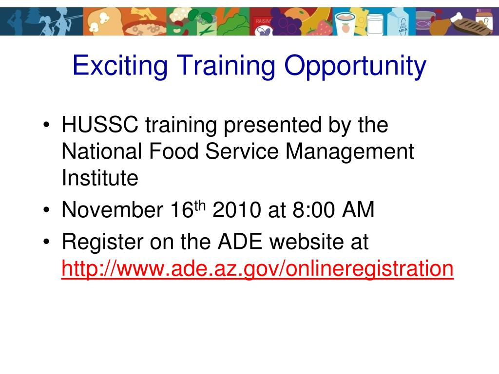 Exciting Training Opportunity