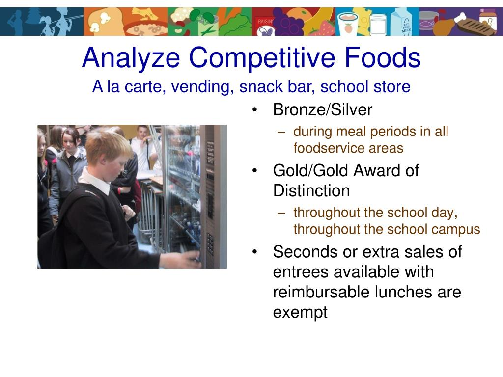Analyze Competitive Foods