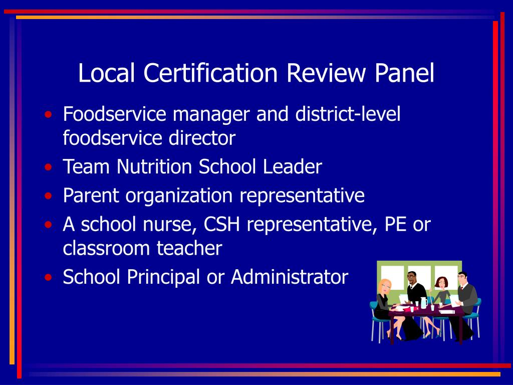 Local Certification Review Panel