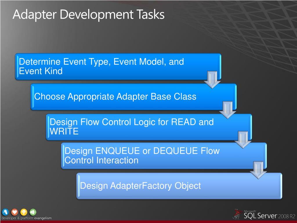 Adapter Development Tasks