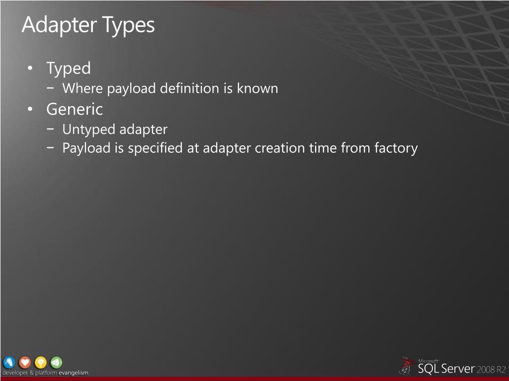 Adapter Types