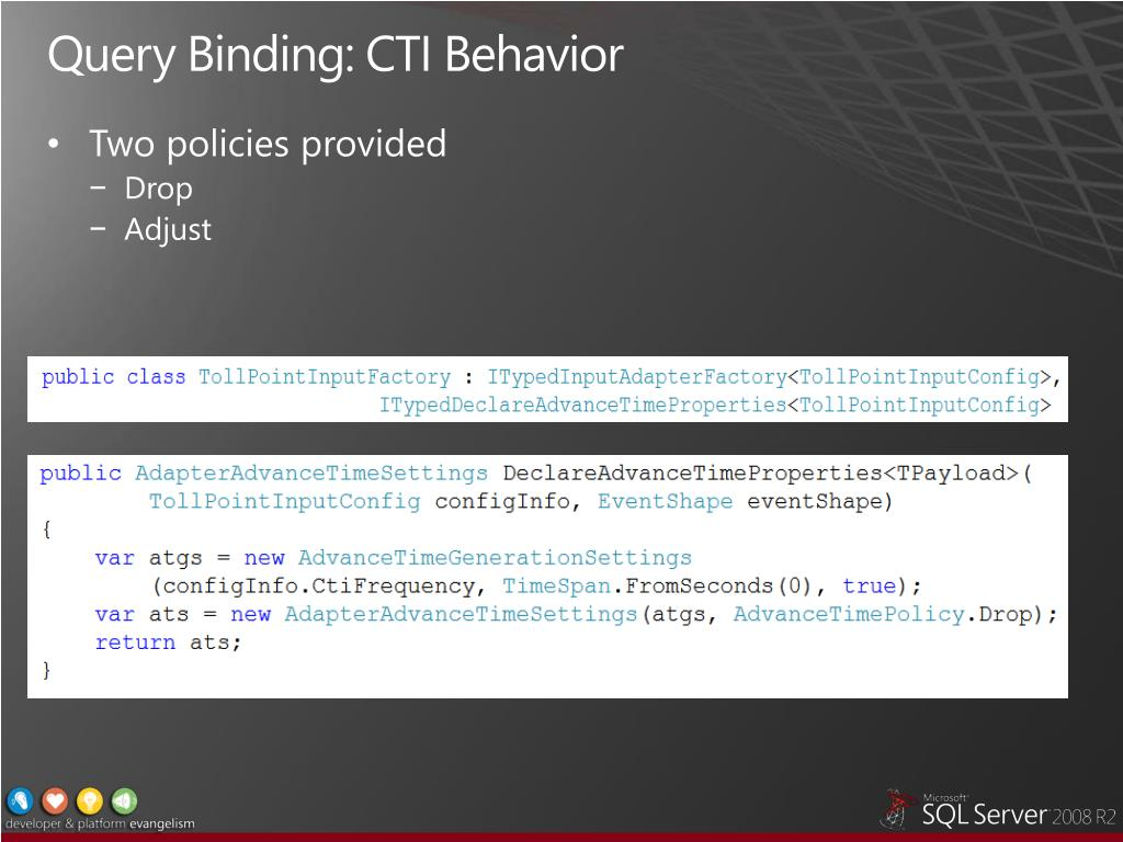 Query Binding: CTI