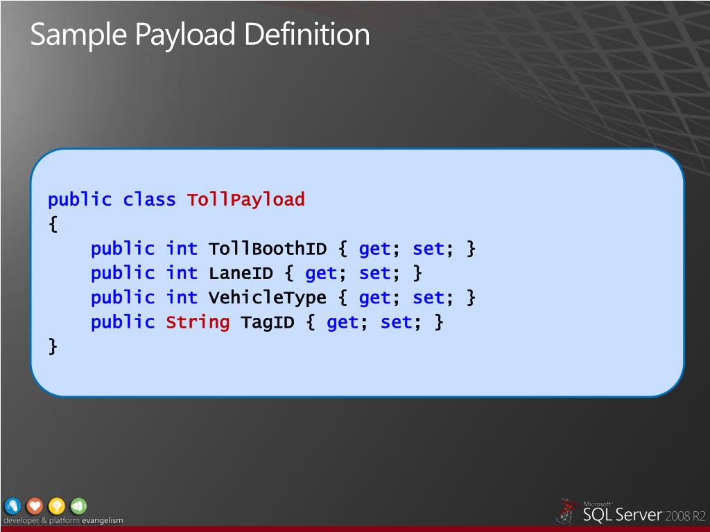 Sample Payload Definition