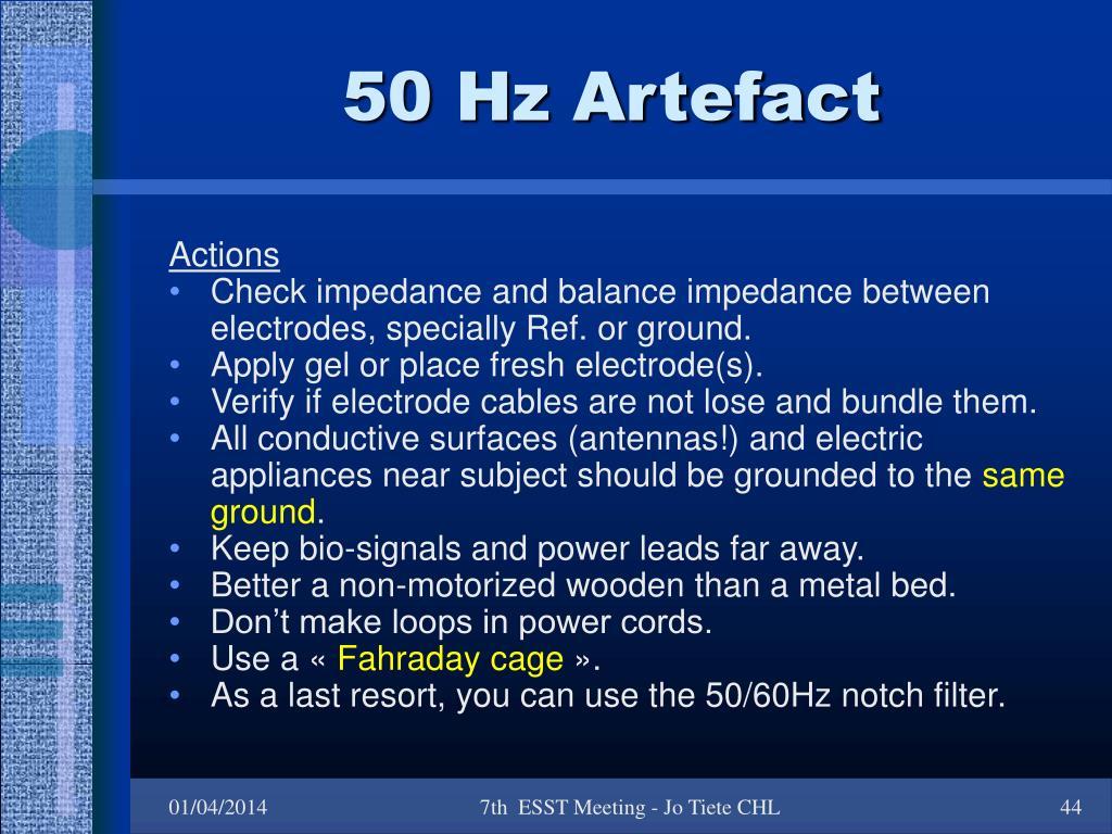 50 Hz Artefact