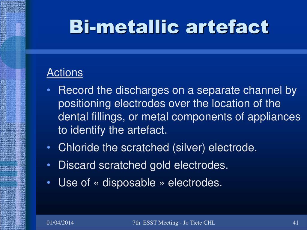 Bi-metallic artefact