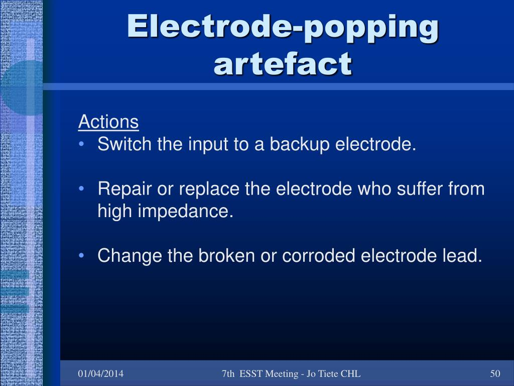 Electrode-popping artefact