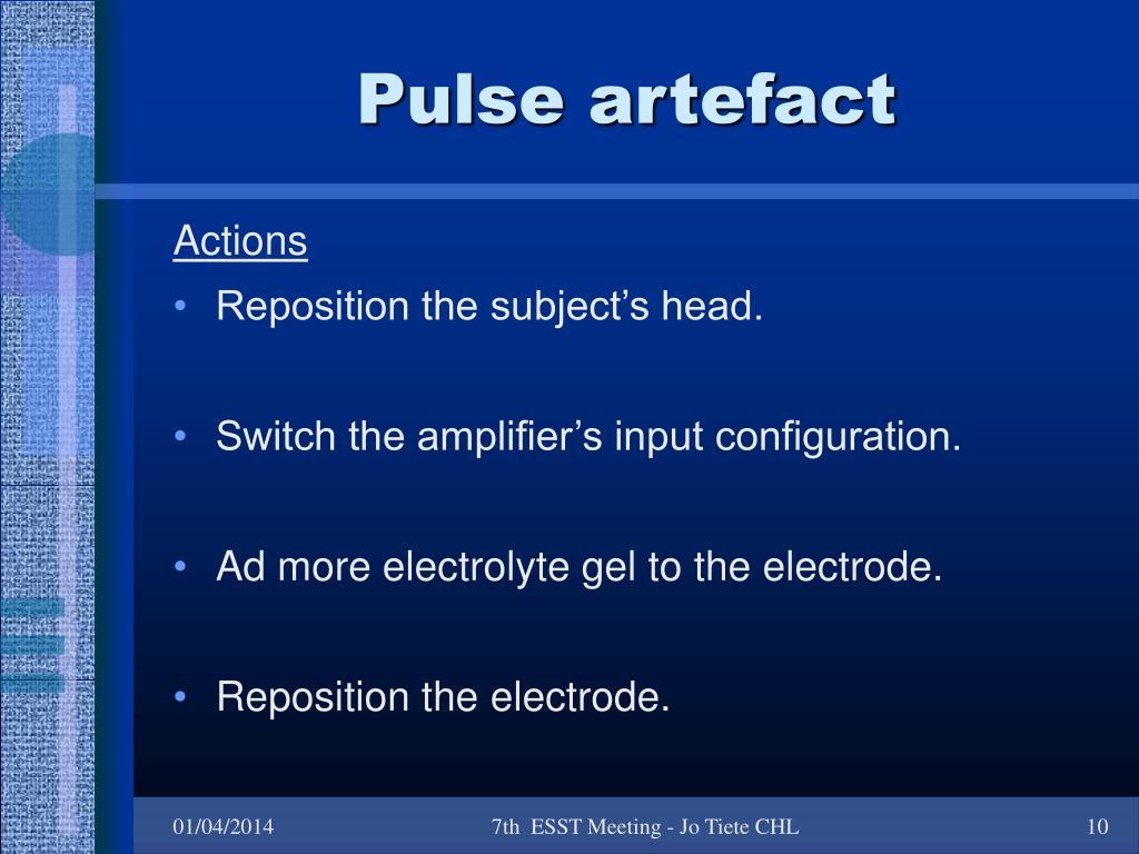 Pulse artefact