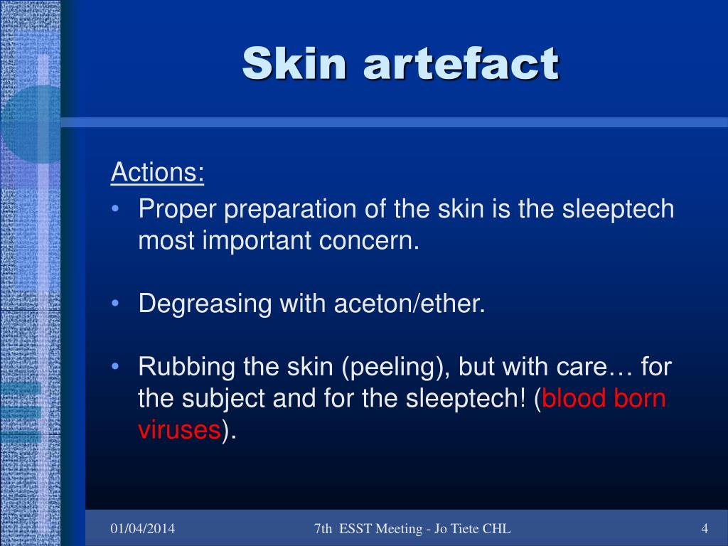 Skin artefact
