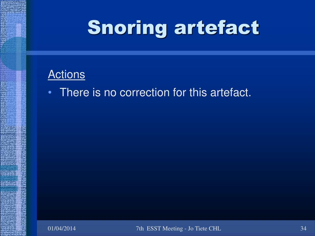 Snoring artefact