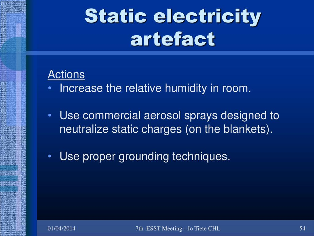 Static electricity artefact