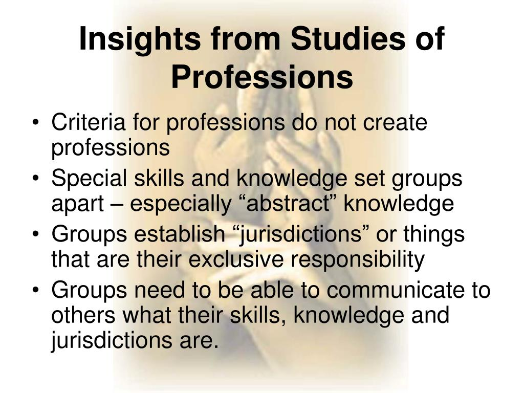 Criteria for professions do not create professions