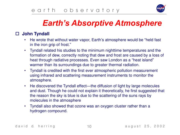 Earth's Absorptive Atmosphere