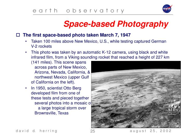 Space-based Photography