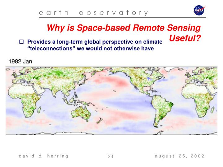 Why is Space-based Remote Sensing Useful?