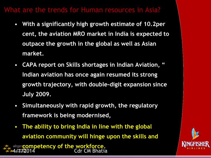 What are the trends for human resources in asia3