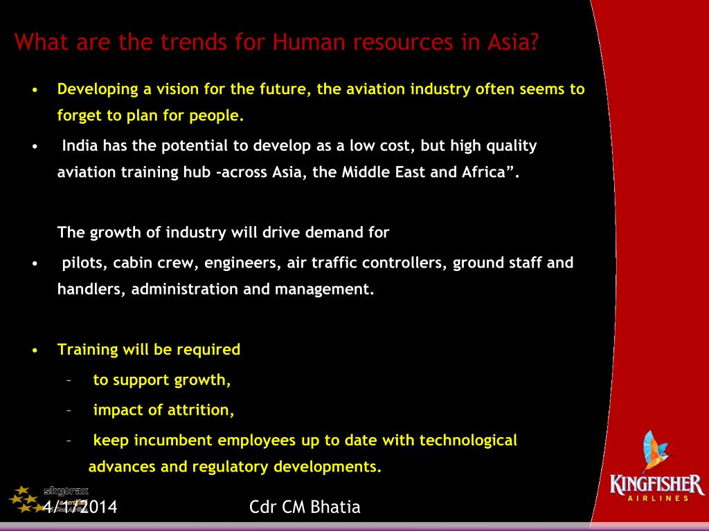 What are the trends for Human resources in Asia?