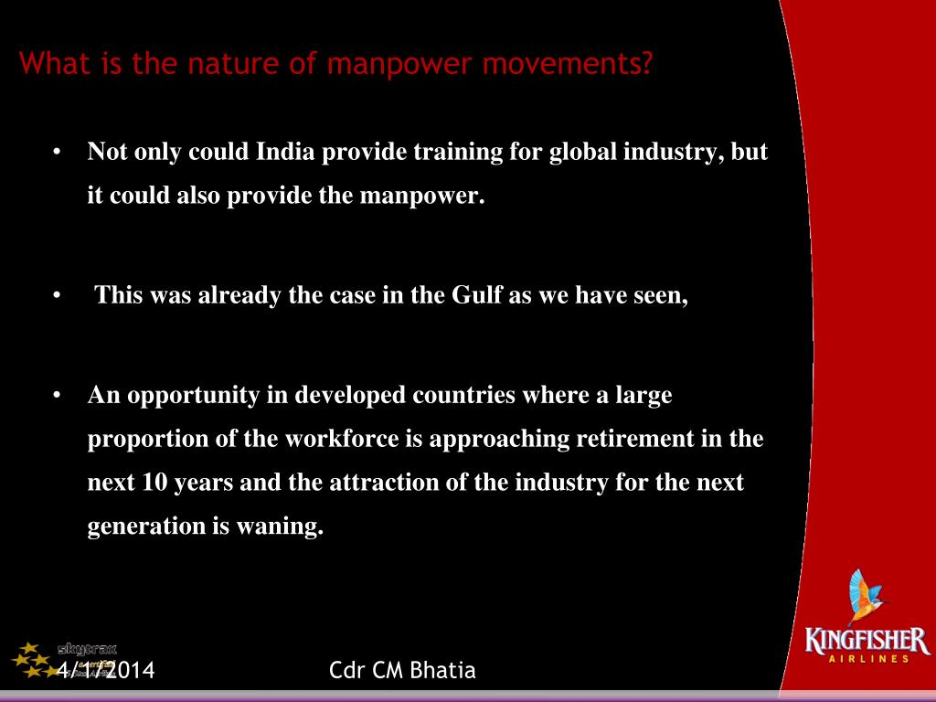 What is the nature of manpower movements?