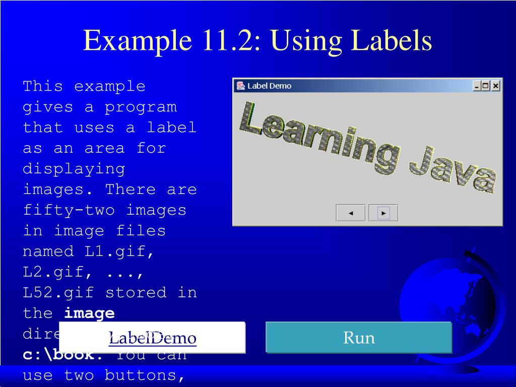 Example 11.2: Using Labels